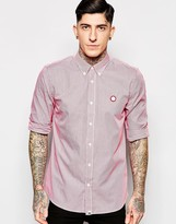 Pretty Green Shirt With Gingham Check In Red