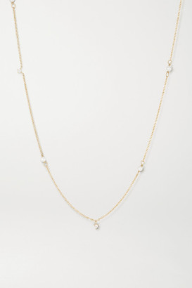 STONE AND STRAND 14-karat Gold, Diamond And Pearl Necklace - one size