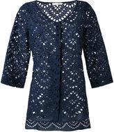 Mantu elongated back buttoned blouse