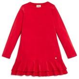 Armani Junior Girls' Ruffle Hem Jersey Dress - Sizes 4-16