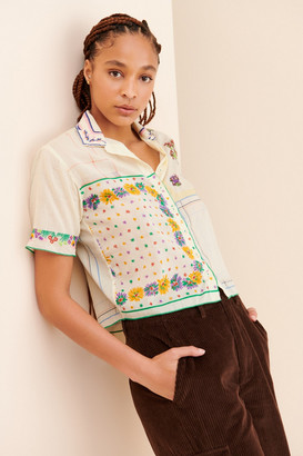 Kimchi & Blue Hankie Patchwork Buttondown Shirt