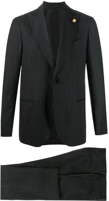 Lardini Striped Single-Breasted Suit