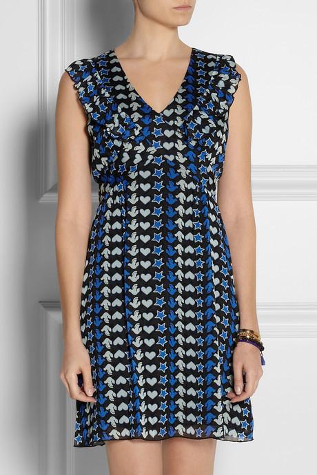 Anna Sui Printed georgette dress