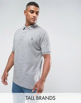 Polo Ralph Lauren Tall Pique Polo Slim Fit In Grey Marl