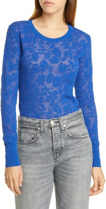 Rag & Bone Perry Floral Jacquard Pullover