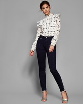 Ted Baker Embroidered Star Skinny Jeans