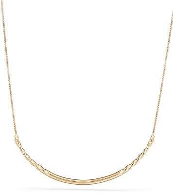 David Yurman Pure Form Collar Necklace in 18K Yellow Gold