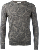 Paolo Pecora leaf printed sweatshirt - men - Cotton - S