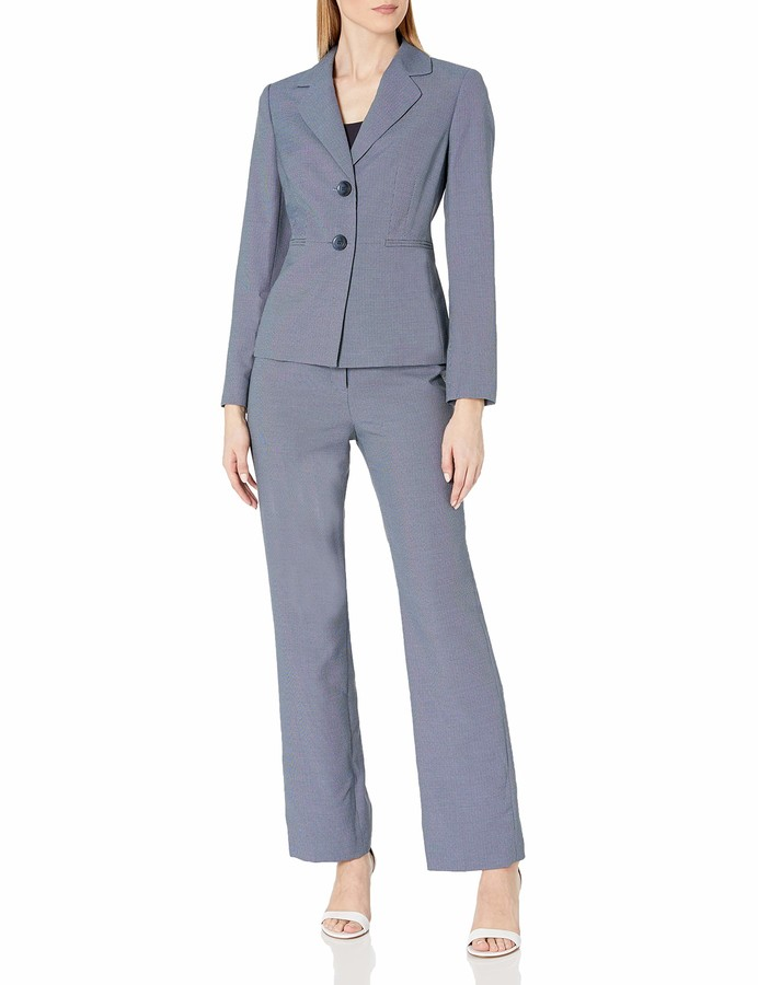 Le Suit LeSuit Women's End 2 Button Notch Lapel Pant Suit
