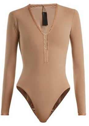 Dos Gardenias - Sin Long-sleeved Surf Swimsuit - Nude