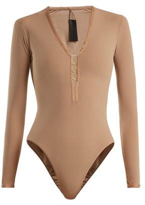 Dos Gardenias - Sin Long-sleeved Surf Swimsuit - Womens - Nude
