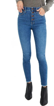 Madewell 10-Inch High-Rise Skinny Jeans: Button-Front Edition