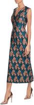 Emilia Wickstead Flocked Midi Dress