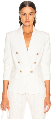 L'Agence Kenzie Double Breasted Blazer in Ivory | FWRD
