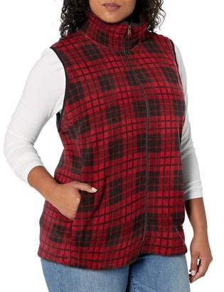Chaps Women's Plus Size Sleeveless New Faux Sherpa-Knit Vest
