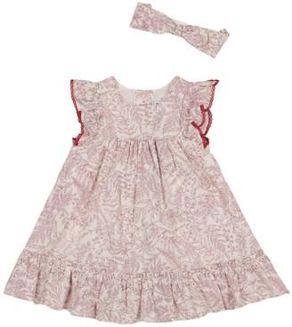 Tartine et Chocolat Baby floral stretch-cotton dress and headband set
