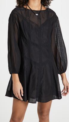 Rebecca Taylor Long Sleeve Cotton Organza Dress