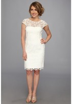 Adrianna Papell Cap Sleeve Lace Sheath