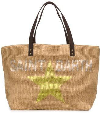 MC2 Saint Barth Logo Star Print Tote Bag
