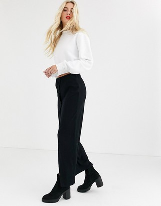 Noisy May ribbed maxi skirt in black
