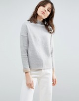 NATIVE YOUTH Double Color High Neck Sweater