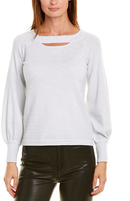 Minnie Rose Cold-Shoulder Sweater
