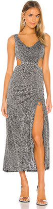 KENDALL + KYLIE Ruched Cut Out Maxi Dress