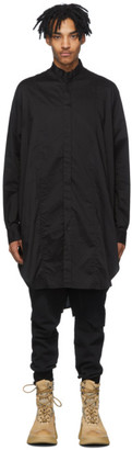 Julius Black Long Poplin Shirt