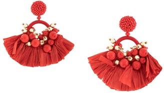 Oscar de la Renta Embellished Tassel Earrings