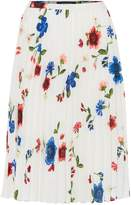 Ellen Tracy Floral printed skirt with pleats
