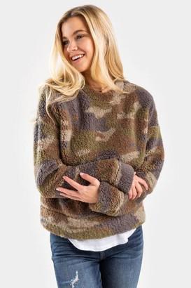 francesca's Olivia Teddy Sweater - Olive