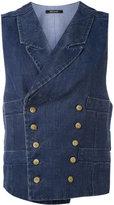 Ermanno Gallamini - metallic embellished waistcoat - women - Cotton/Linen/Flax - L