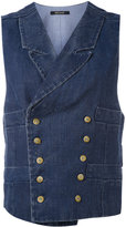 Ermanno Gallamini - metallic embellished waistcoat - women - Cotton/Linen/Flax - M