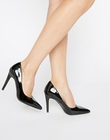 Head Over Heels By Dune Addyson Black Heeled Pumps