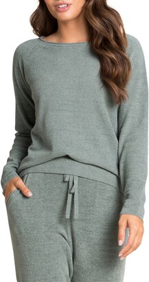 Barefoot Dreams CozyChic(TM) Ultra Lite Rolled Neck Pullover
