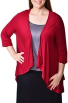 24/7 Comfort Apparel Plus-Size Open Shrug