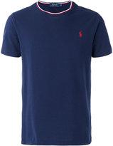 Polo Ralph Lauren logo tricolour trim T-shirt