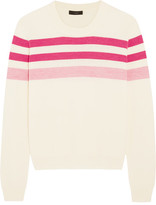 J.Crew Striped Merino Wool Sweater - Pink