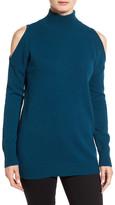 Halogen Cold Shoulder Turtleneck Sweater