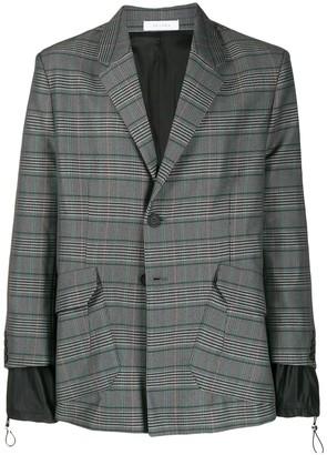 Delada layered plaid blazer