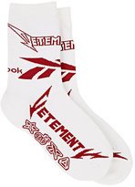 Vetements Men's Logo Cotton-Blend Mid-Calf Socks