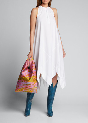 Rosetta Getty Sleeveless Bias Midi Scarf Dress