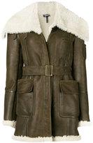 Jil Sander Navy belted aviator jacket