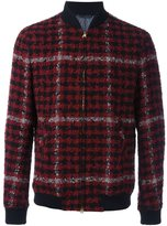 Etro checked bomber jacket - men - Polyamide/Viscose/Wool/Alpaca - M