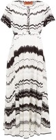 Missoni Zigzag-knitted Cotton-blend Mesh Dress - Womens - White Multi
