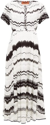 Missoni Zigzag-knitted Cotton-blend Mesh Dress - White Multi