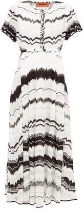 Missoni Zigzag-knitted Cotton-blend Mesh Dress - Womens - White Multi