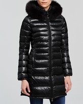 Duvetica Ociroe Hooded Down Coat with Fur Trim