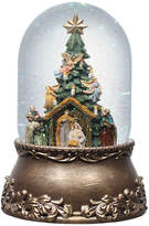 Asstd National Brand Roman Nativity with Tree Glitter Snow Globe