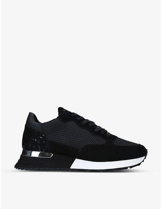 Mallet Popham Mesh mesh and suede trainers